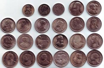 Полные наборы монет Королевства Таиланд-1,2 и 5 бат. - 1 баттай.jpg