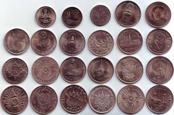 Полные наборы монет Королевства Таиланд-1,2 и 5 бат. - 1бат23 штуки (2).jpg