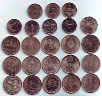 Полные наборы монет Королевства Таиланд-1,2 и 5 бат. - 5 бат.jpg